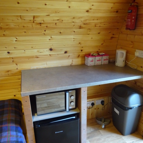 Pod kitchen area