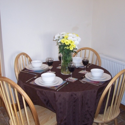 Dining Area at Shropshire Holiday Let