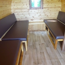 Pod seating area